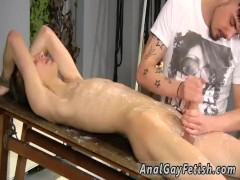 Twinks anal lube panty gay sex boy Adam is