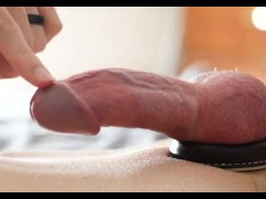 Twink teases an orgasm from a thick cock with just one finger