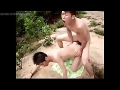 Asian guys fuck on the cliffside - baresexyboys