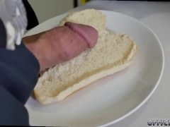 Gay twink eating cum and pee first time The