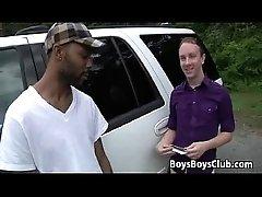 Blacks On Boys - Nasty Gay Bareback Big Dick Sucking 20